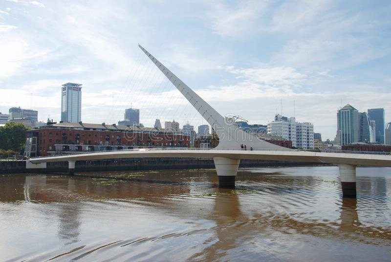 Γέφυρα της γυναίκας σε Puerto Madero Αργεντινή στοκ εικόνες με δικαίωμα ελεύθερης χρήσης