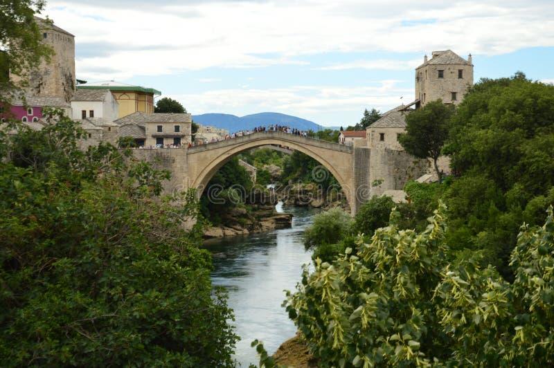 Γέφυρα του Μοστάρ σε Βοσνία-Ερζεγοβίνη στοκ εικόνες