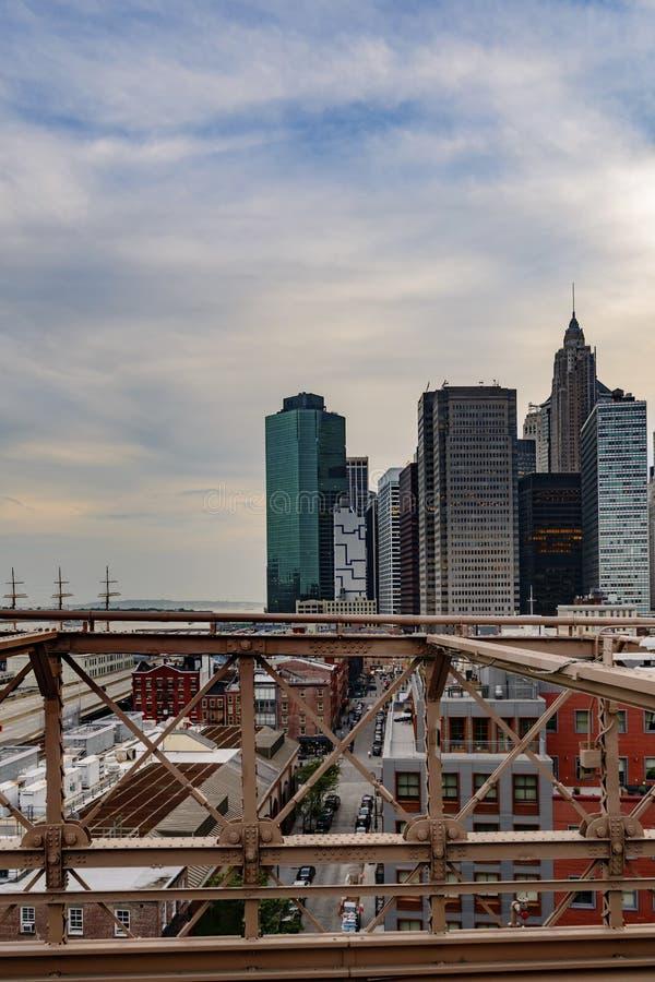 Γέφυρα του Μπρούκλιν στην πόλη της Νέας Υόρκης στοκ φωτογραφία