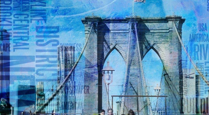 Γέφυρα του Μπρούκλιν της Νέας Υόρκης ελεύθερη απεικόνιση δικαιώματος