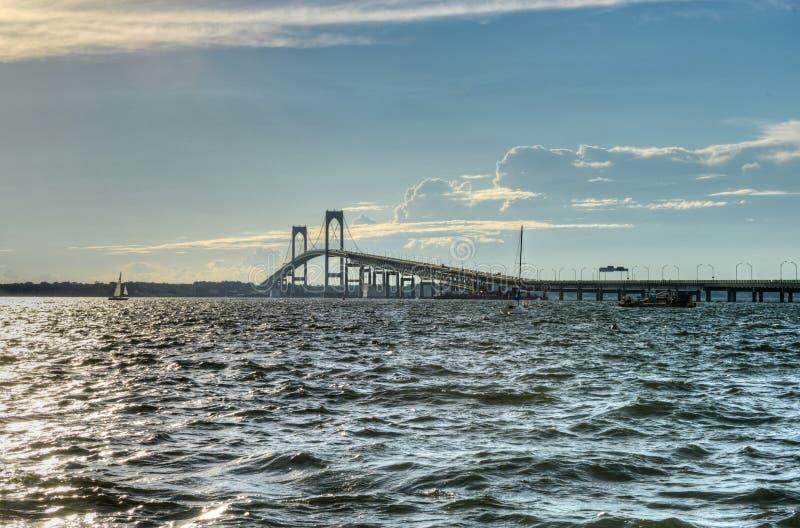 Γέφυρα του Νιούπορτ - Ρόουντ Άιλαντ στοκ φωτογραφίες