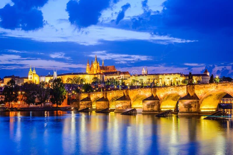 Γέφυρα του Charles, Κάστρο της Πράγας, Δημοκρατία της Τσεχίας στοκ εικόνα με δικαίωμα ελεύθερης χρήσης
