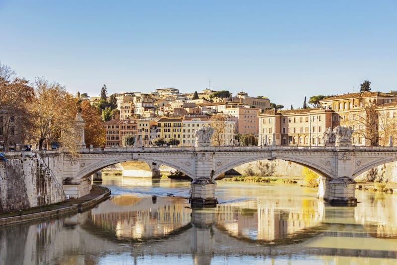 Γέφυρα του Emanuele Vittorio στη Ρώμη στοκ φωτογραφία με δικαίωμα ελεύθερης χρήσης