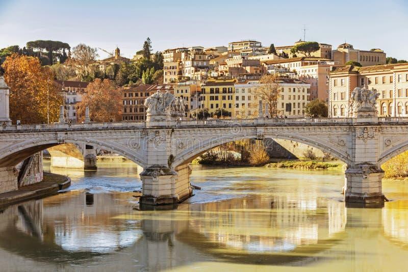 Γέφυρα του Emanuele Vittorio στη Ρώμη στοκ φωτογραφίες με δικαίωμα ελεύθερης χρήσης