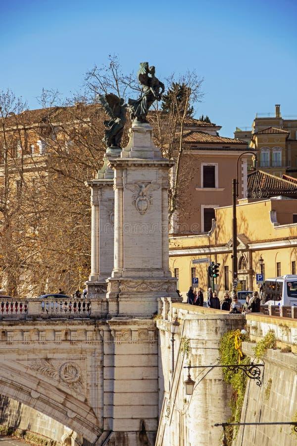 Γέφυρα του Emanuele Vittorio στη Ρώμη στοκ εικόνες με δικαίωμα ελεύθερης χρήσης