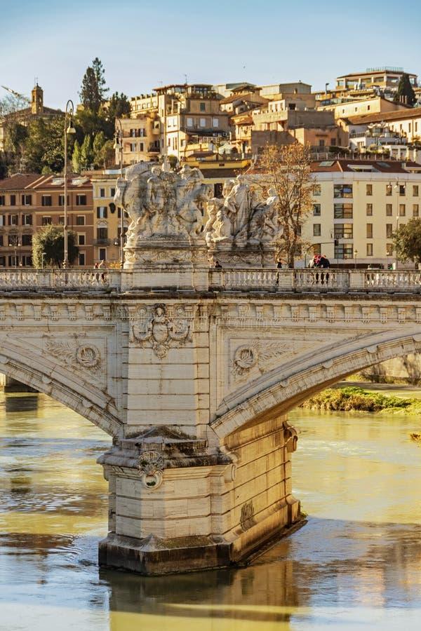 Γέφυρα του Emanuele Vittorio στη Ρώμη στοκ εικόνα