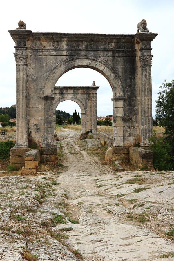 Γέφυρα του Flavien Άγιος-Chamas, Γαλλία στοκ εικόνα με δικαίωμα ελεύθερης χρήσης