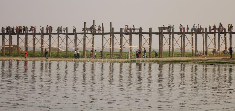 Γέφυρα του U Bein στο Mandalay, το Μιανμάρ στοκ φωτογραφία με δικαίωμα ελεύθερης χρήσης
