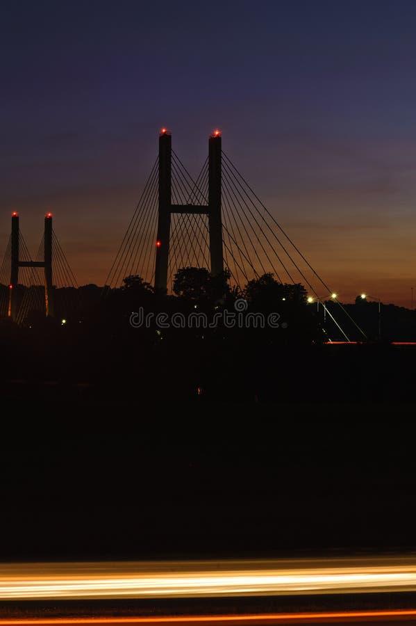 Γέφυρα του William Harsha - ποταμός του Οχάιου στοκ εικόνα με δικαίωμα ελεύθερης χρήσης