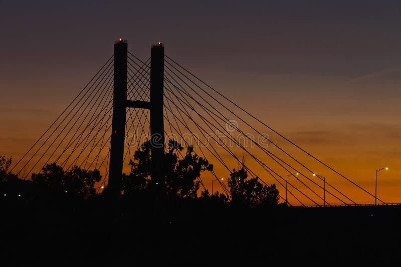 Γέφυρα του William Harsha - ποταμός του Οχάιου στοκ φωτογραφία με δικαίωμα ελεύθερης χρήσης
