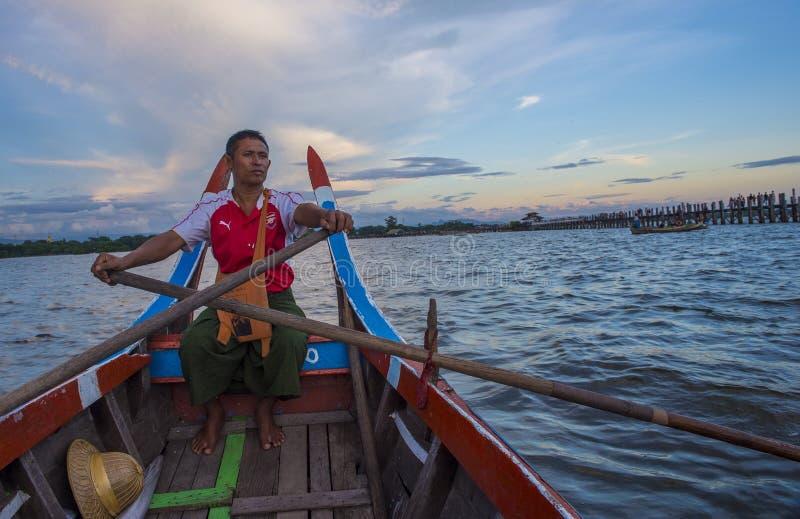 Γέφυρα το Μιανμάρ του U Bein στοκ εικόνες με δικαίωμα ελεύθερης χρήσης