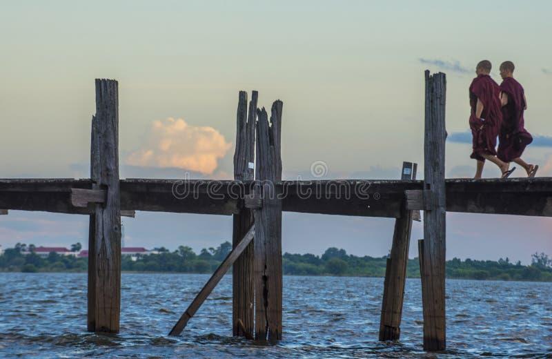 Γέφυρα το Μιανμάρ του U Bein στοκ φωτογραφία με δικαίωμα ελεύθερης χρήσης