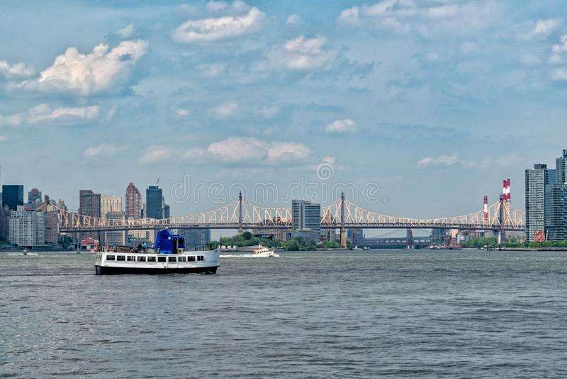 Γέφυρα των ΕΔ Koch Queensboro στην πόλη της Νέας Υόρκης στοκ εικόνα