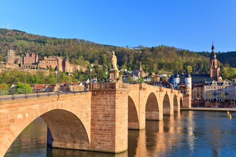 γέφυρα Χαϋδελβέργη στοκ εικόνα με δικαίωμα ελεύθερης χρήσης