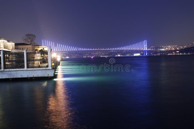 Γέφυρα Bosphorus τη νύχτα στοκ φωτογραφία με δικαίωμα ελεύθερης χρήσης