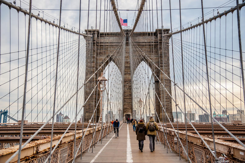 Γέφυρα Brooklin στοκ φωτογραφίες με δικαίωμα ελεύθερης χρήσης