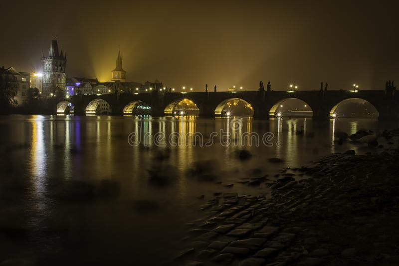 Γέφυρα Chales, Πράγα στοκ φωτογραφία