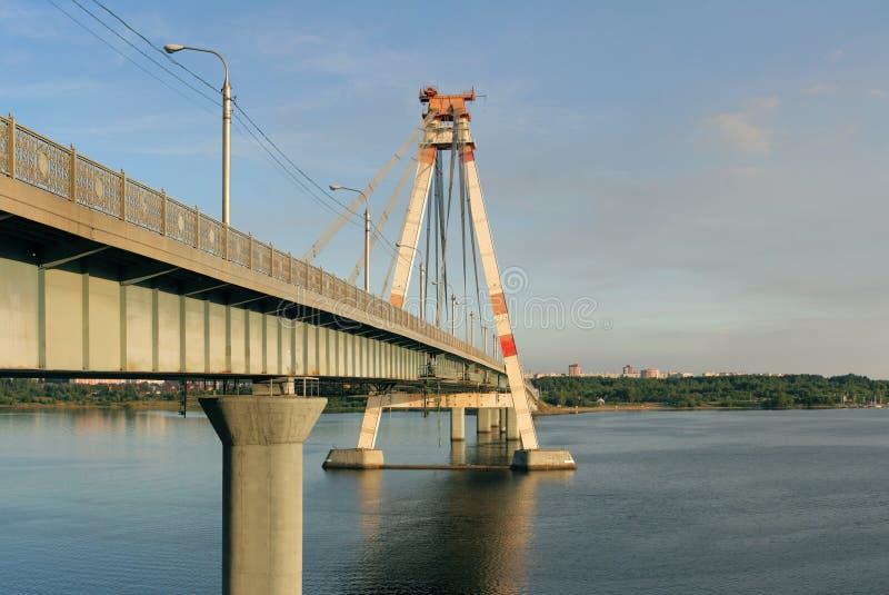 γέφυρα cherepovets Οκτώβριος Ρωσί&alpha στοκ εικόνες