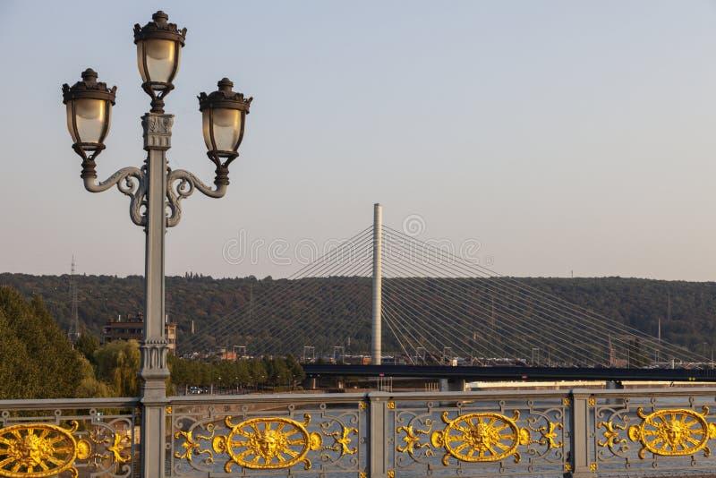 Γέφυρα Fragnee στη Λιέγη στοκ εικόνα