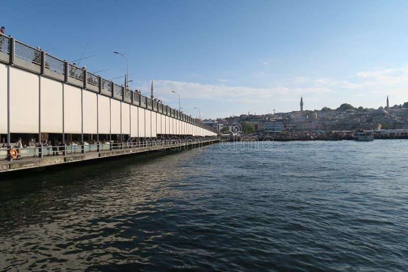 Γέφυρα Galata, χρυσά κέρατο και μουσουλμανικό τέμενος Suleymaniye στη Ιστανμπούλ, Τουρκία στοκ φωτογραφίες με δικαίωμα ελεύθερης χρήσης
