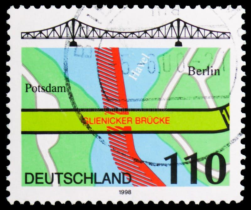 Γέφυρα Glienicke, Βερολίνο, serie, circa 1998 στοκ φωτογραφία με δικαίωμα ελεύθερης χρήσης