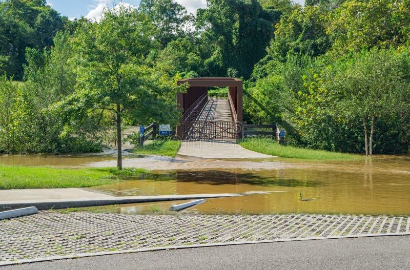 Γέφυρα Greenway ποταμών Roanoke στο πάρκο Wasena, Roanoke, Βιρτζίνια, ΗΠΑ στοκ εικόνες