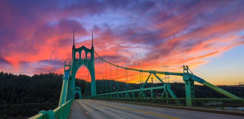 γέφυρα John Όρεγκον Πόρτλαντ s ST & στοκ φωτογραφίες με δικαίωμα ελεύθερης χρήσης