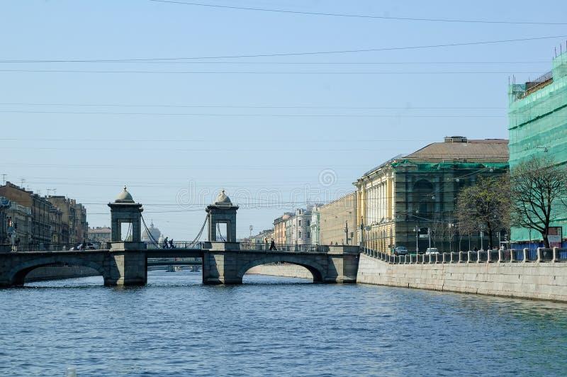 Γέφυρα Lomonosov μέσω Fontanka Άγιος-Πετρούπολη στοκ φωτογραφίες με δικαίωμα ελεύθερης χρήσης