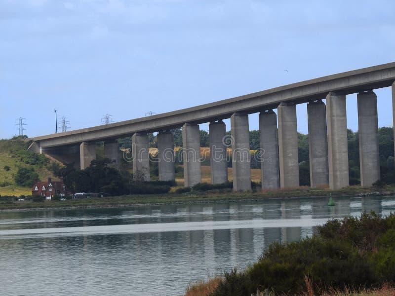 Γέφυρα Orwell, Σάφολκ, Ηνωμένο Βασίλειο στοκ φωτογραφίες