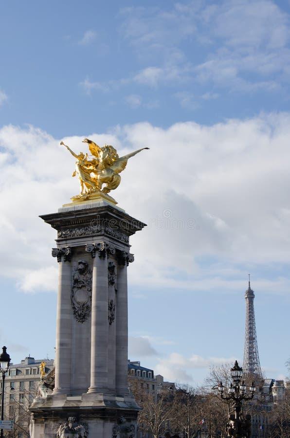 Γέφυρα pont Alexandre ΙΙΙ στοκ εικόνες με δικαίωμα ελεύθερης χρήσης