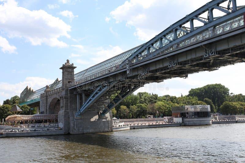 Γέφυρα Pushkin μέσω του ποταμού της Μόσχας στοκ εικόνα με δικαίωμα ελεύθερης χρήσης