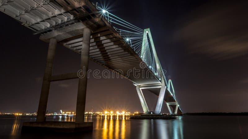 Γέφυρα Ravenel στοκ φωτογραφίες