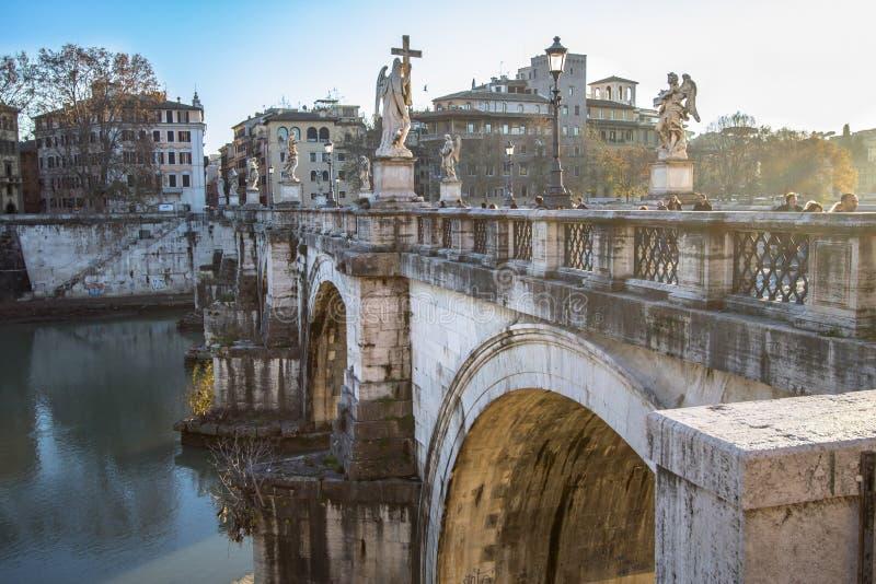 Γέφυρα Sant ` Angelo, Ρώμη στοκ φωτογραφία με δικαίωμα ελεύθερης χρήσης