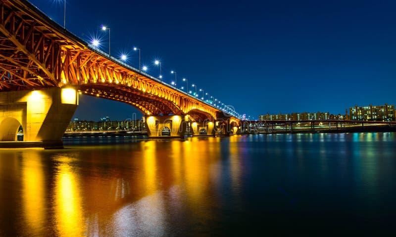 Γέφυρα Seongsu στη Σεούλ, Κορέα στοκ εικόνα
