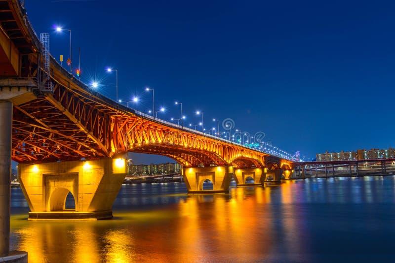 Γέφυρα Seongsu στη Σεούλ, Κορέα στοκ εικόνα με δικαίωμα ελεύθερης χρήσης