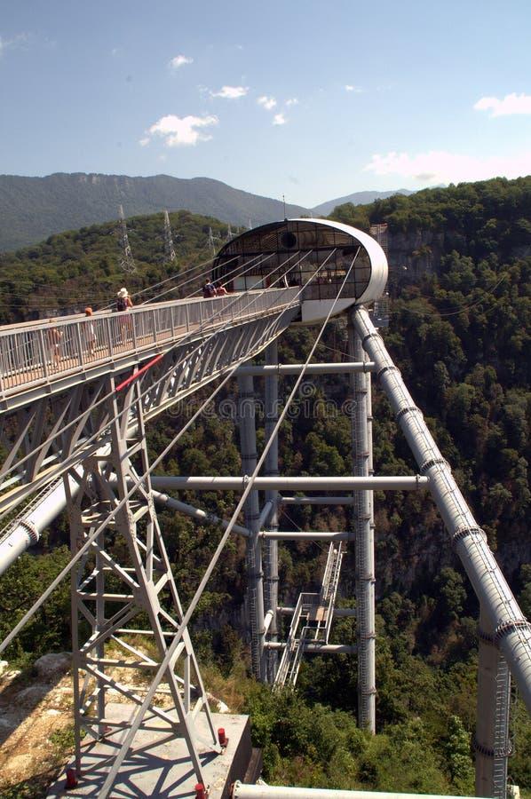 Γέφυρα Skybridge, το της οποίας μήκος είναι 439 μέτρα στοκ εικόνες