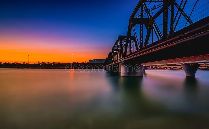 Γέφυρα Tempe στο σούρουπο στοκ φωτογραφία
