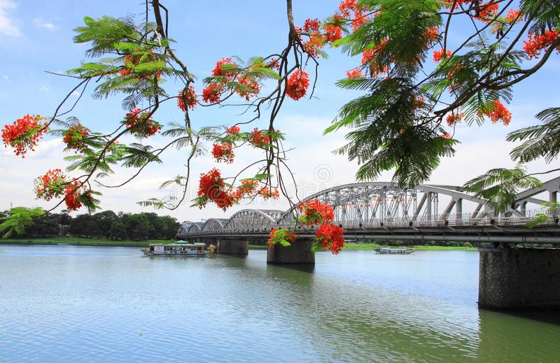 Γέφυρα Tien Truong, πόλη χρώματος, Βιετνάμ στοκ εικόνες