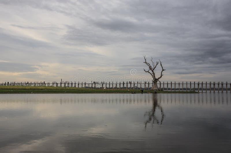 Γέφυρα Ubeng στοκ φωτογραφία