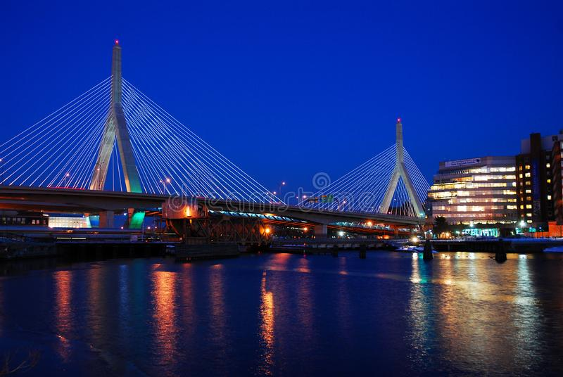 Γέφυρα Zakim, Βοστώνη στοκ εικόνες