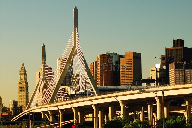 Γέφυρα Zakim, Βοστώνη στοκ φωτογραφία