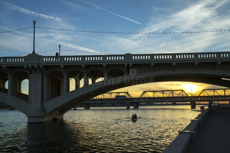 Γέφυρες οδών μετρό και μύλων στοκ εικόνες με δικαίωμα ελεύθερης χρήσης