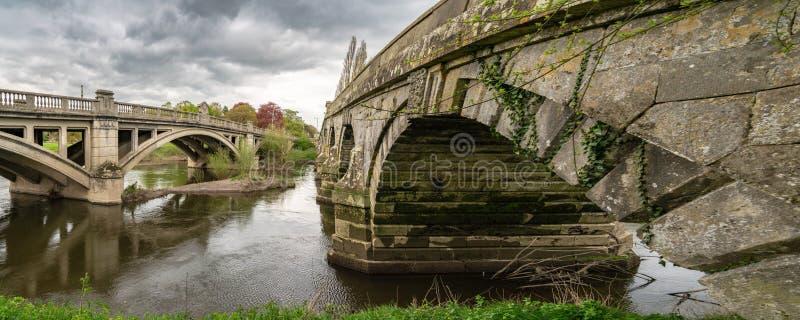 Γέφυρες σε Atcham, Shropshire, Αγγλία, UK στοκ εικόνες