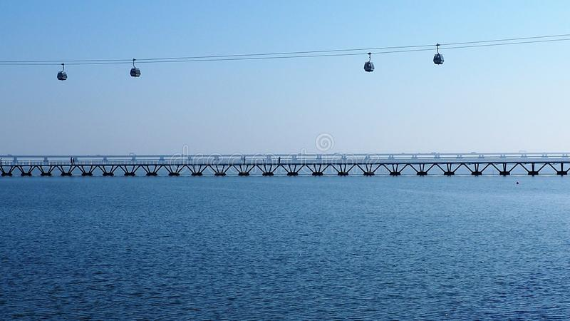 Γέφυρες στη Λισσαβώνα Πορτογαλία στοκ φωτογραφία με δικαίωμα ελεύθερης χρήσης