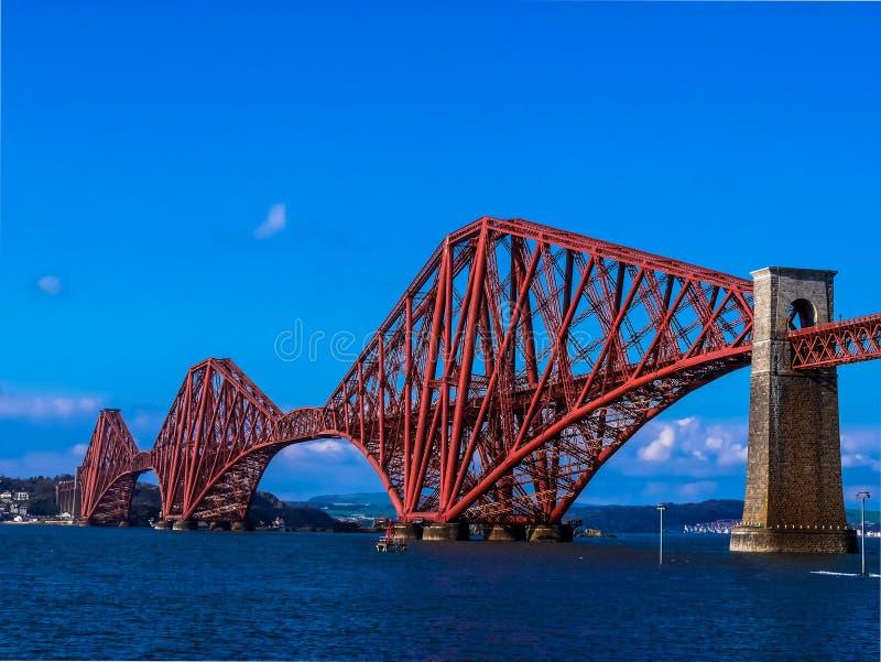 Γέφυρες της γέφυρας σιδηροδρόμων της Σκωτίας - του Εδιμβούργου στοκ φωτογραφίες