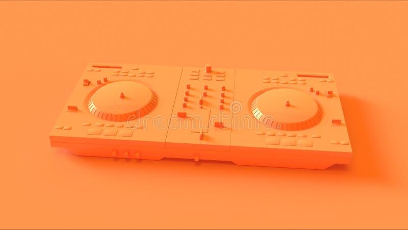 Γέφυρες του DJ πορτοκαλιών/ροδάκινων απεικόνιση αποθεμάτων