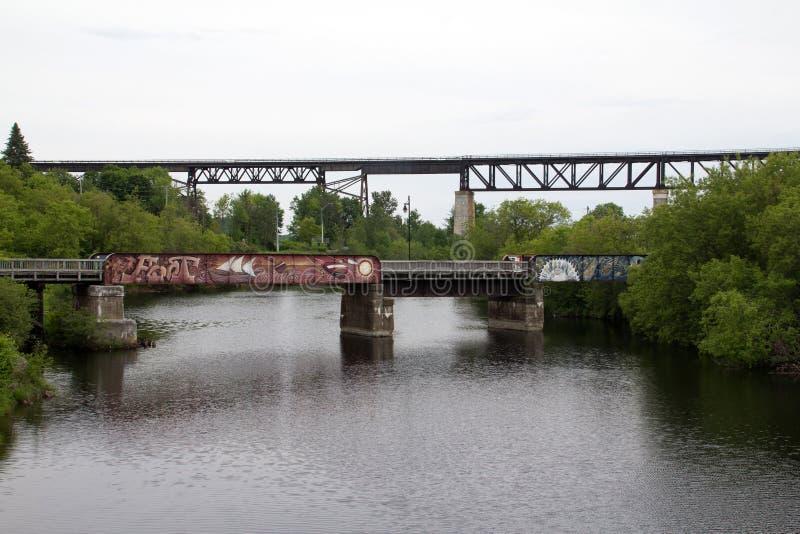 γέφυρες δύο στοκ εικόνες