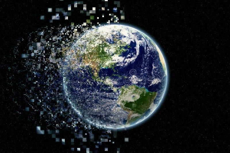 Γήινα μόρια - γήινη σύσταση από τη NASA gov. στοκ εικόνες