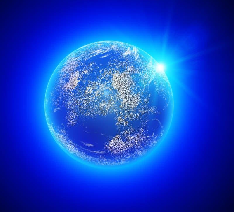 Γήινη άποψη από το διάστημα στοκ εικόνα