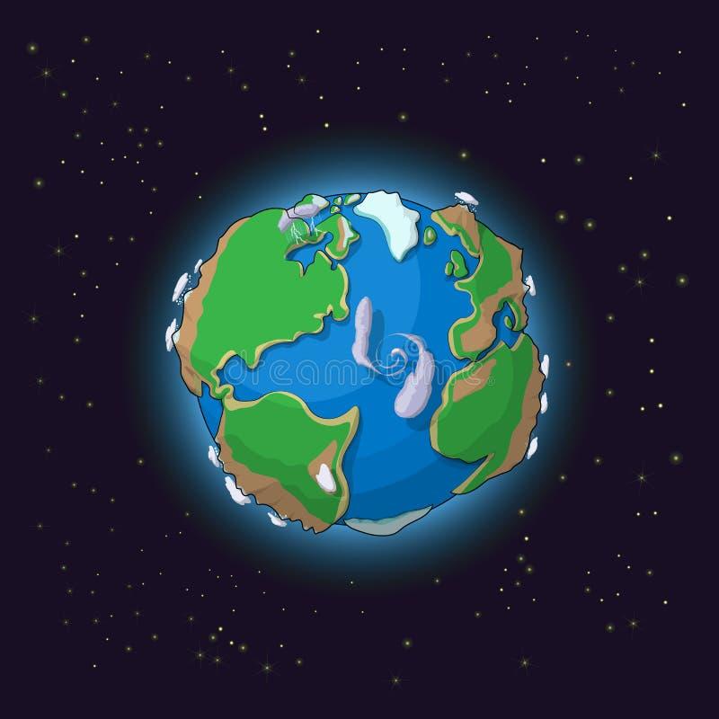 Γήινη έννοια κινούμενων σχεδίων διανυσματική απεικόνιση